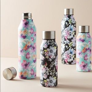 Anthropologie Floral Stainless Steel Water Bottle